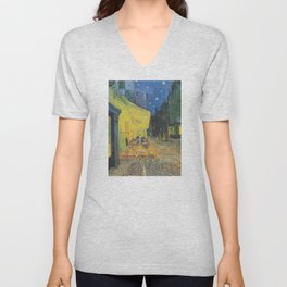 Vincent van Gogh - Cafe Terrace at Night Unisex V-Neck