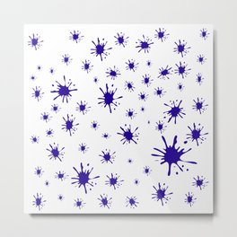 blue spots on white background Metal Print