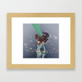 Incoming Danger Framed Art Print