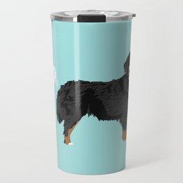 Bernese Mountain Dog dog breed funny dog fart Travel Mug