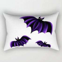 Purple Bats Rectangular Pillow