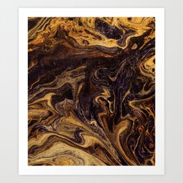 Chocolate and Gold Art Print