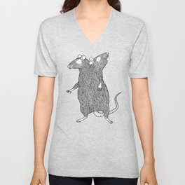 Two Headed Rat, I Love You Unisex V-Neck