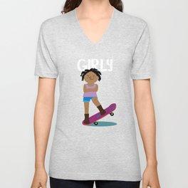 Positively Girly - Skater Unisex V-Neck