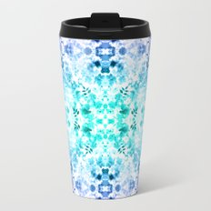 Floral Print - Teal & Purple Travel Mug