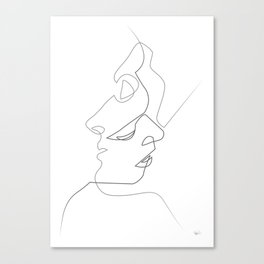 Close on white Canvas Print