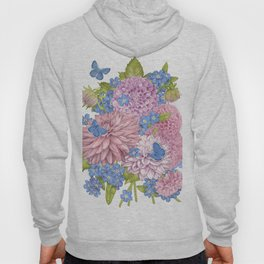 Dahlias and Forget Me Nots Hoody