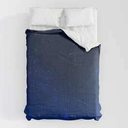 Blue Night Sky (Color) Comforters