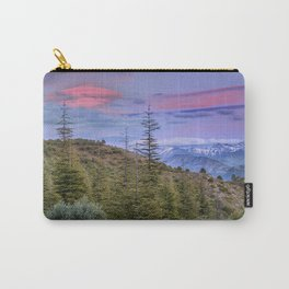 """Lenticular clouds over the mountains """"Mountain light"""". Carry-All Pouch"""