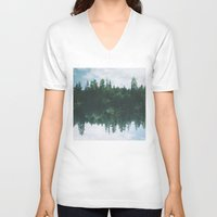 lake V-neck T-shirts featuring lake by cOnNymArshAuS