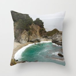 McWay Falls in Big Sur Throw Pillow