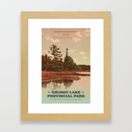 Grundy Lake Provincial Park Poster Framed Art Print