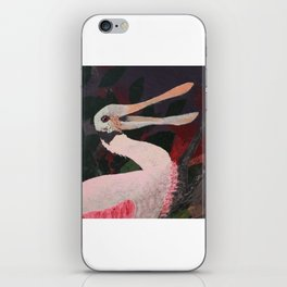 Laughing spoonbill iPhone Skin