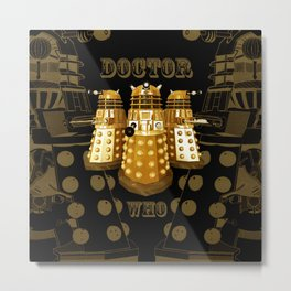 Doctor Who Said Ex Metal Print