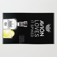 tequila Area & Throw Rugs featuring Avion Tequila by John D'Amelio