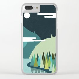 Beside The Mountains Clear iPhone Case