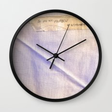 yourself Wall Clock