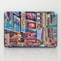 broadway iPad Cases featuring Broadway, NYC by June Marie
