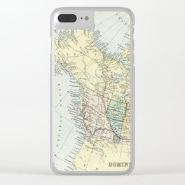 Vintage Map of Canada Clear iPhone Case