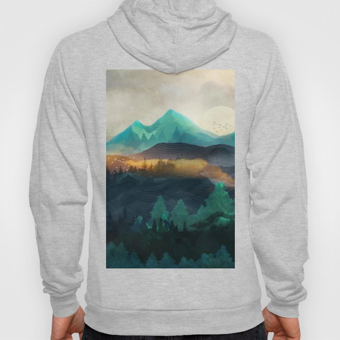 Green Wild Mountainside Hoody