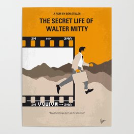 No806 My The Secret Life of Walter Mitty minimal movie poster Poster