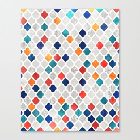 Sea & Spice Moroccan Pattern Canvas Print