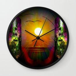 Festival sunrise Wall Clock