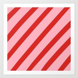 Reddy Stripes Art Print