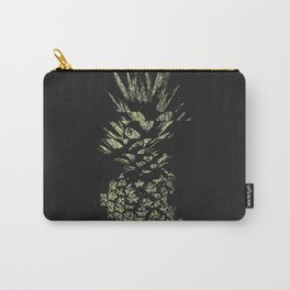 Pineapple with Glitch and Texture Carry-All Pouch