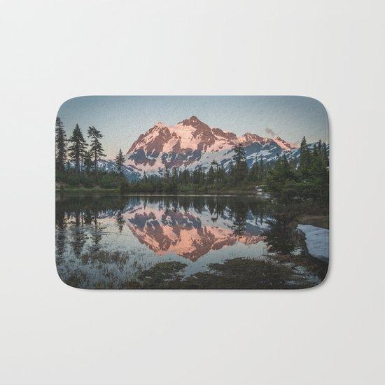 Cascade Sunset - Mt. Shuksan Bath Mat