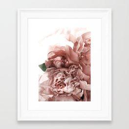 Blush Pink Floral Framed Art Print