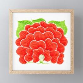 Welcome Flower (on white) Framed Mini Art Print