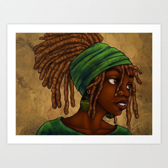 Green Wrap Art Print