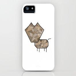 Geometric Dog iPhone Case