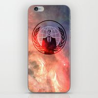 anonymous iPhone & iPod Skins featuring Anonymous by Sney1