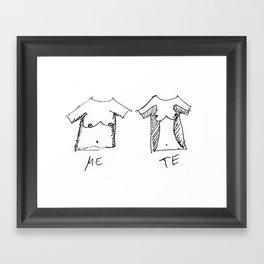 ME & TE Framed Art Print