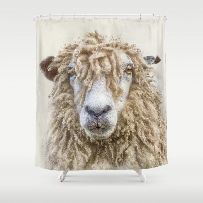 Longwool Sheep Shower Curtain