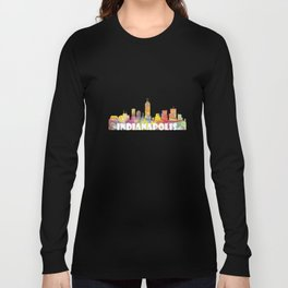 Indianapolis Indiana  Skyline MCLR 2 Long Sleeve T-shirt