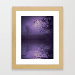 SONG OF THE NIGHTBIRD - LAVENDER Framed Art Print