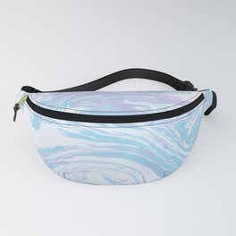 Blue sea marble Fanny Pack