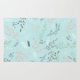 Light And Lovely Spring Floral Garden Pattern Rug