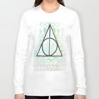 deathly hallows Long Sleeve T-shirts featuring Deathly Hallows by Carmen McCormick