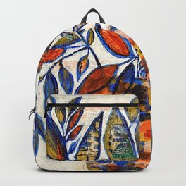 WAX PLANT in blue Backpack