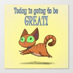 Optimistic Cat Canvas Print