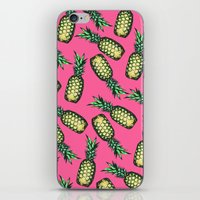 pineapple iPhone & iPod Skins featuring Pineapple Pattern by Georgiana Paraschiv