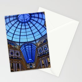 Shoping in Milan Stationery Cards