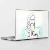 bitch Laptop & iPad Skins featuring bitch by Guadalupe Jiménez