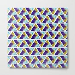 Marbled triangels Metal Print