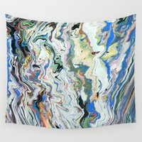 geology Wall Tapestries featuring Fluctuating Geology by Christina Stavers