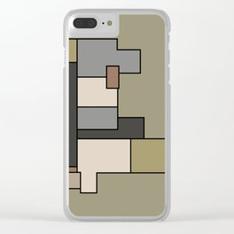 Neutral Abstract Floor Plan Art Clear iPhone Case
